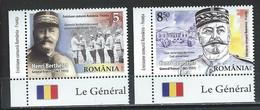 Romania. Scott #  MNH. General Berthelot. Joint Issue With France. 2018 - Joint Issues