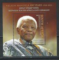 So. Africa. Scott #  MNH. 100th Birthday Of Nelson Mandela. Joint Issue With Germany  2018 - Joint Issues