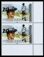 TONGA 1997 Policeman Dog CORNER.PAIR OVPT:new Value - Tonga (1970-...)