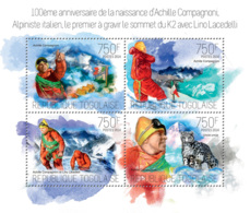 Togo 2014  Italian Mountaineer And Skier, Achille Compagnoni - Togo (1960-...)