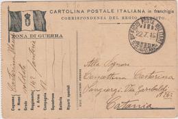 Italia 1916 Ufficio Posta Militare 11 Mo Corpo Di Armata Cartolina Postale - 1900-44 Vittorio Emanuele III