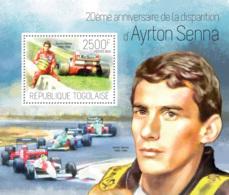 Togo 2014  Brazilian Racing Driver, Ayrton Senna - Togo (1960-...)
