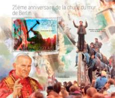 Togo 2014  The Fall Of The Berlin Wall , Pope John Paul II - Togo (1960-...)