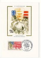 Carte Maximum 1987 - Entrée En Guerre Des Etats-Unis - YT 2477 -  Paris - Cartes-Maximum