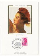 Carte Maximum 1987 - Type LIBERTÉ De Delacroix Rose 3,70 F - YT 2486 - Paris Tour Eiffel - Cartes-Maximum