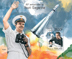 Togo 2014 Youri Gagarine Space - Togo (1960-...)