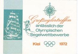 Germany Postcard Grossseglertreffen 1972 Kiel Olympic Games P/m Kiel 1972 Grossseglertreffen (DD23-33) - Voile