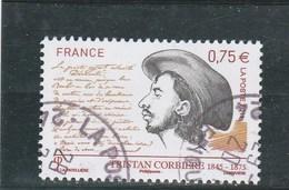 FRANCE 2011 YT 4536 OBLITERE TRISTAN CORBIERE - - France