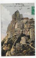 (RECTO / VERSO) SAINT PERAY - N° 56 - ROCHER ET RUINES DU CHATEAU DE CRUSSOL - CPA VOYAGEE - Saint Péray