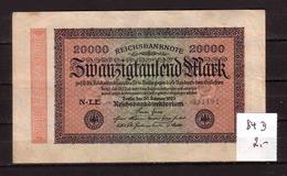 53d * REICHSBANKNOTE 84D VOM 20.2.1923  * 20000 MARK * WENIG GEBRAUCHT ** !! - 20000 Mark