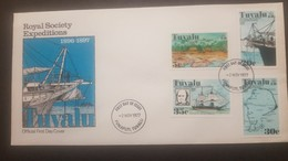 O) 1977 TUVALU, DARWIN TEORY-CHARLES DARWIND AND BEAGLE-HURRICANE BEACH AND CORAL BORING APPARATUS ON PORPOISE-ISLANDS S - Tuvalu