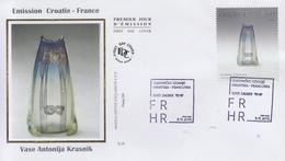 Enveloppe  FDC   1er  Jour    CROATIE   Emission  Commune  Avec   La   France    2018 - Emissions Communes