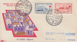 Enveloppe  FDC  1er  Jour  ALGERIE   Paire   CROIX  ROUGE   1952 - Algérie (1924-1962)