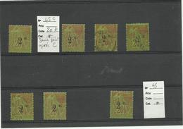 Réunion, YT N°45 Lot De 7 Valeurs Dont Variété 45c, Neufs Et Oblitérés - Réunion (1852-1975)