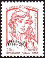 France Marianne De La Jeunesse Par Ciappa Et Kawena N° 4767_d ** TVP Rouge 20g. Offset Sans Phosphore Surchargé - France