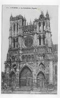 (RECTO / VERSO) AMIENS EN 1919 - LA CATHEDRALE - CPA VOYAGEE - Amiens