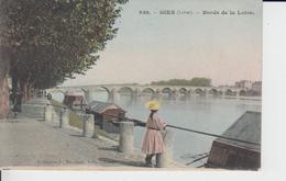 LOIRET -  938 - GIEN - Bords De La Loire  ( - Carte Colorisée Avec Timbre à Date De 1906 - Animation ) - Gien