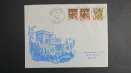 Algerie Lettre De Kouinine Oasis Fevrier 1962 Pour SP 86 520 A.F.N - Algérie (1924-1962)