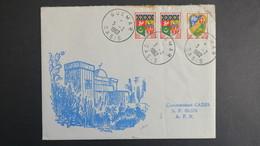 Algerie Lettre De Guemar Oasis Fevrier 1962 Pour SP 86 520 A.F.N - Algérie (1924-1962)