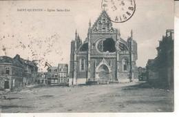 02DB01Q8  CPA 02 -  SAINT QUENTIN  EGLISE SAINT ELOI    V 1923 - Saint Quentin