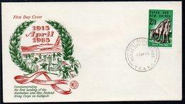 PAPUA NEW GUINEA, 1965 ANZAC FDC - Papua New Guinea