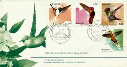 BRASIL / Brasilien - 22.5.81  FDC  , Vögel - Kolobris - Segler & Kolibris