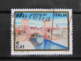 *ITALIA* USATI 2001 - TURISTICA COMACCHIO - SASSONE 2531 - LUSSO/FIOR DI STAMPA - 6. 1946-.. Repubblica