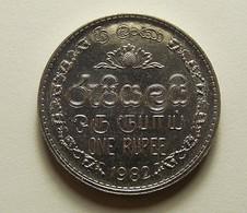Sri Lanka 1 Rupee 1982 Varnished - Sri Lanka