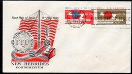 NEW HEBRIDES, 1965 ITU FDC - English Legend