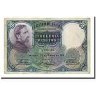 Billet, Espagne, 50 Pesetas, 1931-04-25, KM:82, TTB - 50 Pesetas