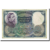 Billet, Espagne, 50 Pesetas, 1931-04-25, KM:82, TTB - [ 1] …-1931 : Prime Banconote (Banco De España)