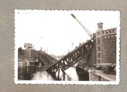Aalst Foto 1940 Vernielde Spoorwegbrug 9cm X 6 Cm - Aalst