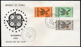 CYPRUS, 1965 EUROPA FDC - Lettres & Documents