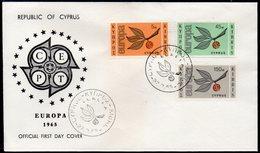 CYPRUS, 1965 EUROPA FDC - Chypre (République)