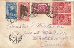 MADAGASCAR LETTRE 1942 AMBATONORATAKA Pour TANANARIVE Bel Affranchissement - Storia Postale