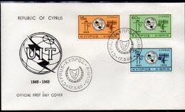CYPRUS, 1965 ITU FDC - Chypre (République)