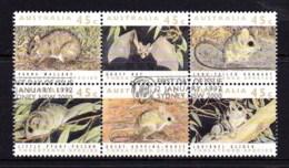 Australia 1992 Threatened Species Block Of 6 Used - 1990-99 Elizabeth II