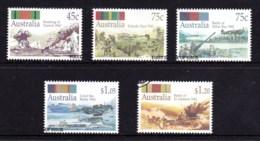 Australia 1992  Under Fire - World War II Set Of 5 Used - 1990-99 Elizabeth II