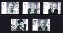 Australia 2002 Legends - Medical Scientists Set Of 5 Used - 2000-09 Elizabeth II