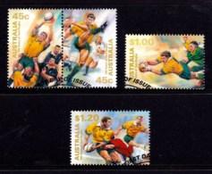 Australia 1999 Test Rugby - 100 Years Set Of 4 Used - 1990-99 Elizabeth II