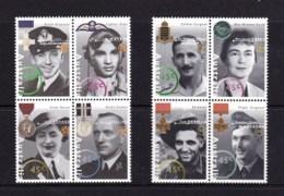Australia 1995 Australia Remembers War Heroes Blocks Of 4 MNH - 1990-99 Elizabeth II