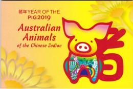 Christmas Island 2019 Year Of The Pig Aust. Animals Prestige Booklet - Christmas Island