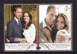 New Zealand 2011 Royal Wedding -William & Kate Set Of 2 Used - New Zealand