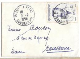 SUR MIGNONETTE. FORMAT : 70X100MM.. N°1148..DE POINT A PITRE  GUADELOUPE à CASABLANCA..TBE..1958...SCAN - Marcophilie (Lettres)