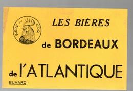 Bordeaux (33 Gironde) Buvard BIERES DE BORDEAUX DE L'ATLANTIQUE (bière Du Coq) (CAT 1334) - Food