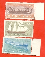 Denmark 1970. Ships.  Unused Stamps. - Ships
