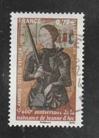 FRANCE 2012 -  600e ANNIVERSAIRE DE LA NAISSANCE DE JEANNE D ARC OBLITERE A DATE YT 4654 - France