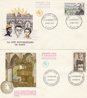 LOT 4 FDC 1960/61- LACORDAIRE (Percey) - HONNORAT (Paris) -  Mme De STAËL (Paris) -  De NOLHAC (Ambert) - FDC