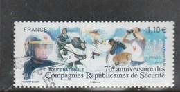 70 E ANNIVERSAIRE DES COMPAGNIES REPUBLICAINES DE SECURITE FRANCE 2014 OBLITERE YT 4922  -                        TDA275 - France