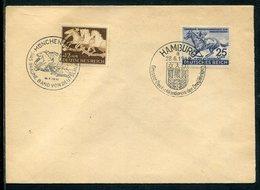 Deutsches Reich / 1942 / Mi. 814 Und 815 Zusammen A. Blancobrief, So-Stempel Hamburg Und Muenchen (7350) - Deutschland